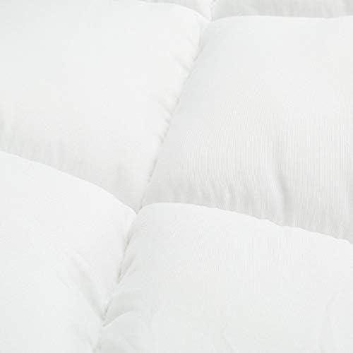 Microfibre Mattress Topper/ProtectorMicrolite Box Stitched Non-Allergenic & Elasticated Corner Straps (King)