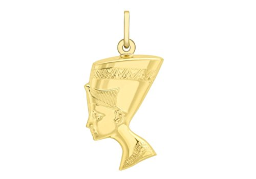 Jewellery World Bague en or jaune 9 carats Pendentif Néfertiti