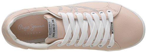 Rose Sneakers Pink Basses Jeans Femme Brompton Embroidery mauve Pepe OZYxBHq