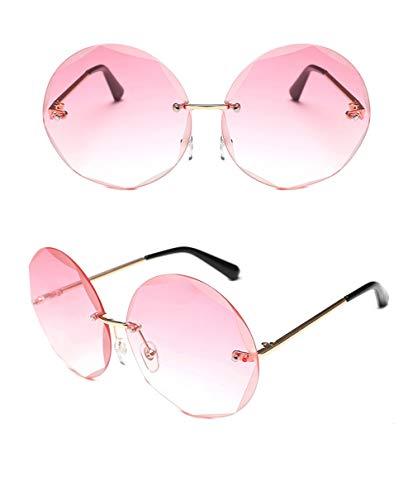 De Marque sans Monture Femmes Lunettes pink Rondes Lunettes Lunettes Femmes Soleil Designer Soleil Soleil De FKSW Lunettes De A5wYqHO