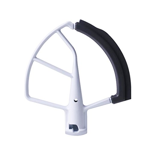 Flex Edge Beater for KitchenAid Mixer - Lift Stand Tilt-Head Mixers Attachment for 5.5 QT and 6 Quart Bowls - Bowl Scraper Blade Accessory White - By Flexpro