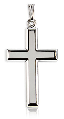 Heartland Classic High Polish Cross Sterling Silver Pendant for Men - Pendant Only ()