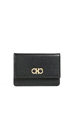 Salvatore Ferragamo Women's Gancini Card Case, Nero, One Size by Salvatore Ferragamo