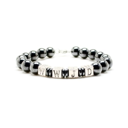 Accents Kingdom Men's Magnetic Hematite Round Bead with S...