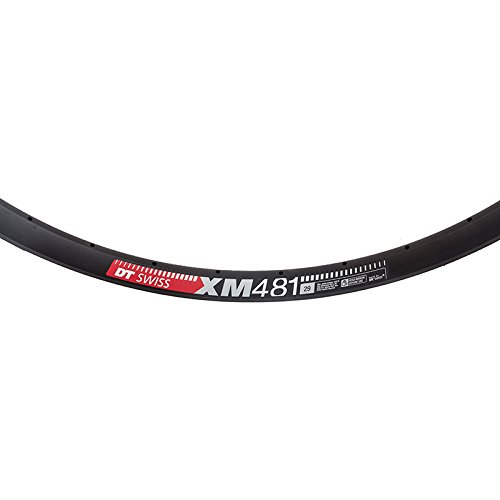 DT Swiss XM 481 29'' Tubeless-Ready Disc Rim 32h Black with Squorx Nipples and Rim Washers