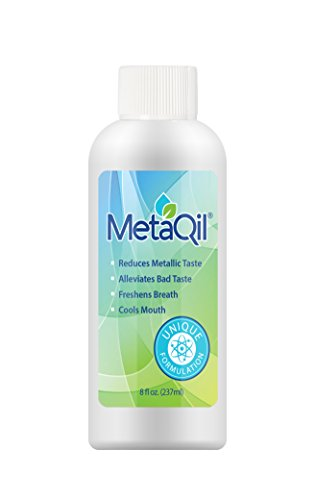 MetaQil Oral Rinse 8oz Bottle - Clinically proven to Relieve Metallic Taste, bitter taste and unpleasant taste. Cools mouth and Freshens breath