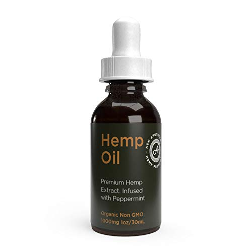 Organic Hemp Oil Tincture – 1000mg Full Profile Hemp Extract for Sleep Relief, Anxiety, Stress, Pain and Inflammation…