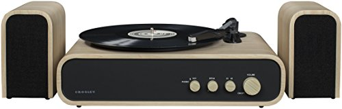 Crosley Gig Retro Belt-Drive Bluetooth Turntable with Aux-in and Speakers 2 Turntable Pitch Belt