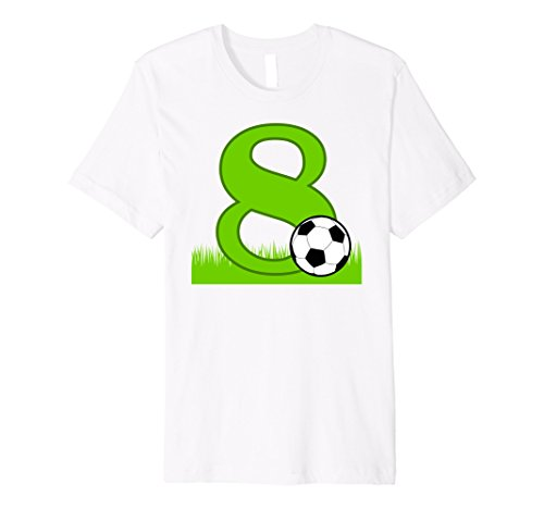 8th Birthday Soccer T-Shirt for 8 years (Old Soccer Shirts)