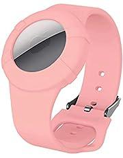 AirTag - Funda de pulsera para niños, Airtag pulsera, correa de reloj Airtag para niños, bebés, niños mayores, pulsera impermeable compatible con Apple AirTag 2021 (rosa)