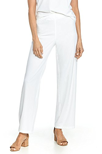 Coolibar UPF 50+ Women's Verona Straight Leg Pant - Sun Protective (Medium- White)