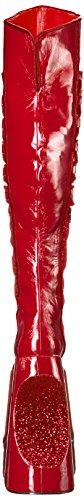 Pleaser Womens Fabu3035/R-g Red Crinkle Patent-gltr HchrVF8G