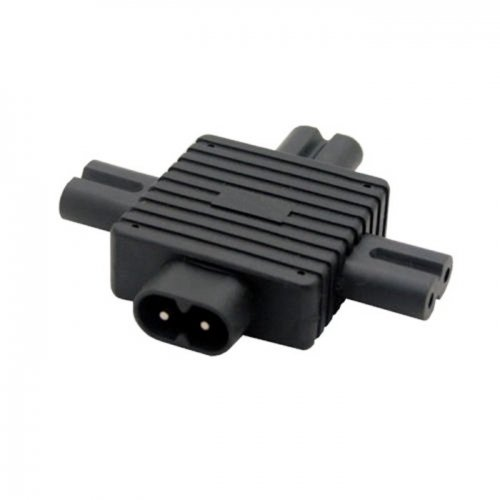 IEC 320 Figure 8 C8 Male to 3X Female C7 Splitter Power Adapter for Power Supply 1 in 3 out CableCC