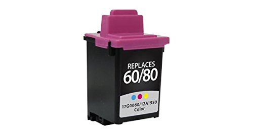 Inksters Remanufactured Ink Cartridge Replacement for Lexmark 80/60 Color, 12A1980 / 17G0060 (#80/60)