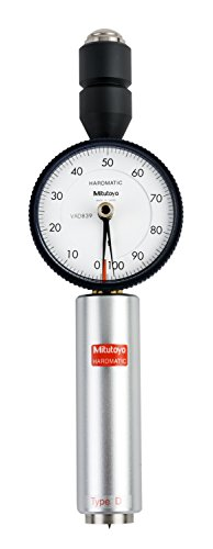 Mitutoyo 811-333-10 HH-333 Dial Durometer with Calibration, Shore D Long by Mitutoyo