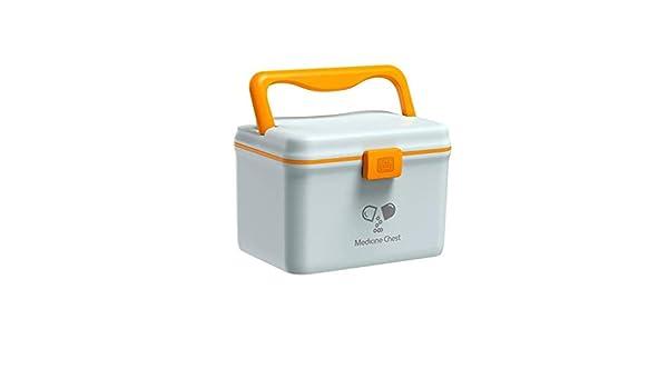 MXK Gabinete De Almacenamiento De Medicamentos De Plástico Caja De Almacenamiento De Medicamentos Caja De Kit De Primeros Auxilios para El Hogar Caja De Medicina Multifuncional 15x15.3x21cm: Amazon.es: Deportes y aire libre