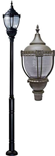 - DABMAR LIGHTING GM8050-BZ-MT Cast Aluminum Dark Top Acorn Fixture 70 Watt High Pressure Sodium Multi-Tap, Bronze