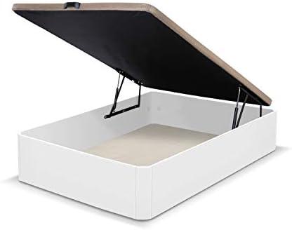 duehome Canapé somier abatible Dormitorio, Base tapizada en Tejido 3D, Beige, Cama de Color Blanco, Modelo Luxury, Medidas: 90 x 190 cm de Largo, MDF: Amazon.es: Juguetes y juegos