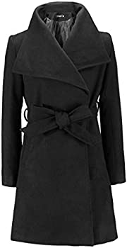 Sandinged Casual Collar Long Sleeve Solid Long Woolen Women's Coat