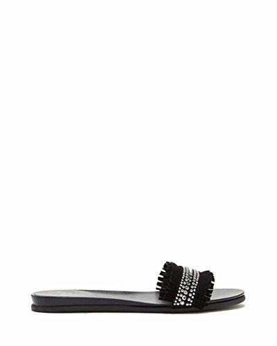 Ettina Vince Metallic Sandals Black Camuto qFwn47Z8x