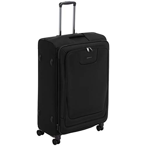 AmazonBasics Expandable Softside Spinner Luggage Suitcase With TSA Lock And Wheels - 29 Inch, -