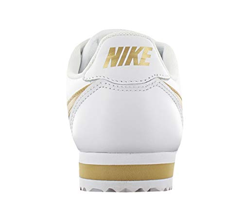 Nike gold oro white Classic Wmns Cortez White Bianco Hk Leather rr1Fxw8
