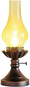Iluminación de pared Tabla Americana Retro Dormitorio Resistente a los arañazos Diseño Nostálgico Ambiente armonioso Escritorio de Cristal de Cristal Creativo Cafetería Plancha + (Color : A)