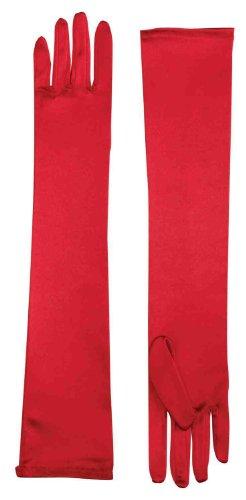 Forum Child Opera Satin Gloves, Red