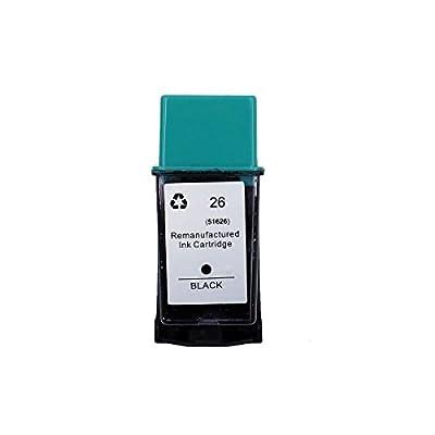 ChenPhon Remanufactured Ink Cartridges Compatible HP 26 (51626A) for HP DeskJet, HP DeskJet Plus, HP DeskJet 400 420c, Deskwriter, c 510, HP Fax 200 300, HP OfficeJet, Lx 300 330 350 (1 x Black)