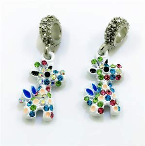 NEW Giraffe European Pendant CZ Crystal Charm Beads Fit Necklace Bracelet DIY !