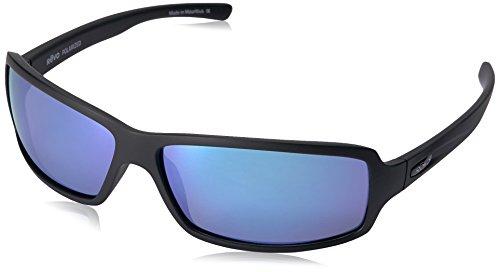 Revo Re 4037x Thrive Wraparound Polarized Wrap Sunglasses, Matte Black Blue Water, 64 - Sunglasses 4037