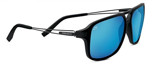 Serengeti 8193 Venezia, Satin Black Frame, Polarized 555nm Blue - Venezia Sunglasses