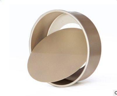 Molde de Horno para Tarta/ Molde de Horno/ Molde Redondo para Bizcocho - Base Desmontable - Acero con Recubrimiento Antiadherente - 21 cm / Color Oro: ...