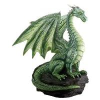 COLECCIÓN DE LA CUMBRE Dragón verde en la figura de fantasía de rock