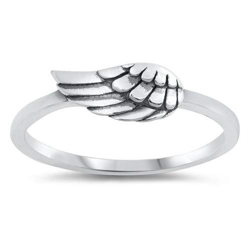 Glitzs Jewels 925 Sterling Silver Ring Wing Cute Jewelry Gift for Women in Gift Box