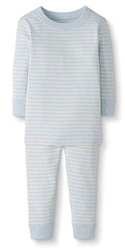 Moon and Back by Hanna Andersson Baby/Toddler 2-Piece Organic Cotton Long Sleeve Pajama Set, Blue, 3T