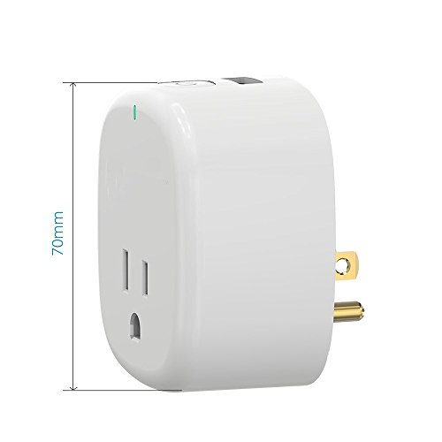 Wi-Fi Mini Timing Smart Plug, With USB Outlet, No Control Center, On the Phone Through the APP Control Device Switch, UL Certification & FCC,RoHs,Work With Amazon Alexa & Google Home by purui (Image #2)