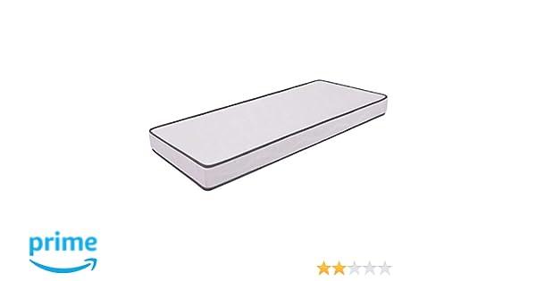 Ailime Waterfoam H12 - Colchón para cama, poliuretano, 80 x 190 x 12 cm, color blanco con ribete gris: Amazon.es: Hogar