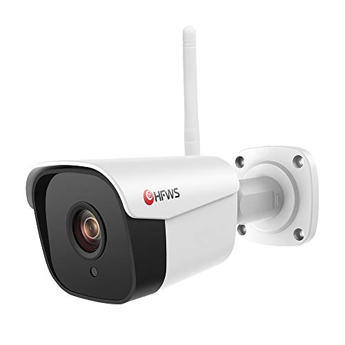 Wireless Camera 1080P WiFi Security Bullet Camera Indoor/Outdoor IP67 Weatherproof,100 FT. Night Vision with 16GB SD Card, Smart APP Control HFWS-WT20