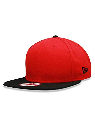 New Era 9fifty Og Fits Plain Blank Red Black Visor Buckle Strapback Hat Cap (Custom New Era Hats)