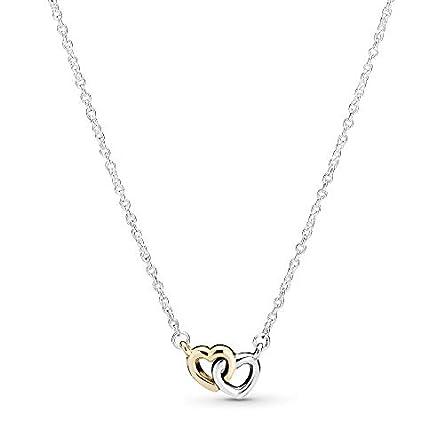 Pandora Jewelry Interlocked Hearts Collier Sterling...