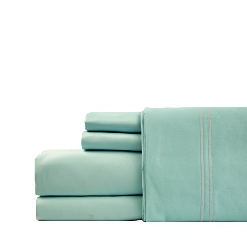 Linenwalas 100% Cotton Pillow Cases - 1000 Thread Count 2 Piece Set | Silk Like Soft, Hypoallergenic, Breathable & Cooling Sateen |Hotel Luxury Pillow Cover Deal (King, Turquoise)