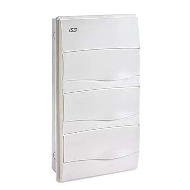 IDE BM36PO IP40 Caja de Distribución de Empotrar, Blanco, 497mm x ...