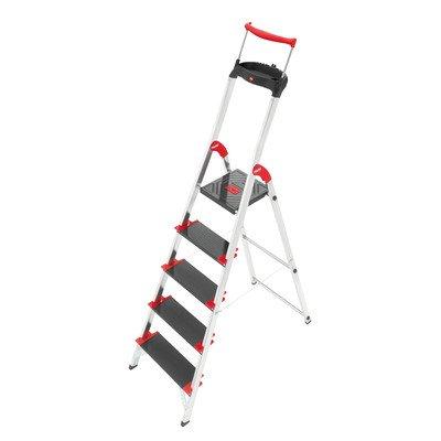 Hailo Championsline 5.51 ft Aluminum Step Ladder with 495...