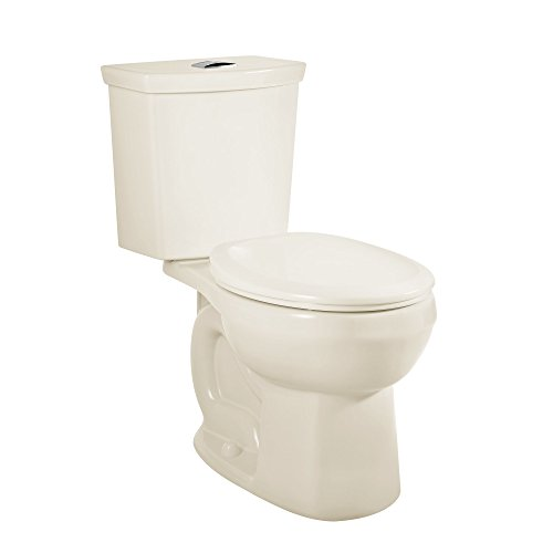 (American Standard 2889218.222 H2Option Siphonic Dual Flush Normal Height Round Front Toilet, Linen, 2-Piece)