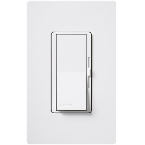 Lutron DVWFSQ-FH-WH 1.5 Amp Diva Single-Pole or 3-Way Fan Control, White ()