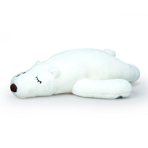 Hugging Bears - LOVOUS Soft Hugging Sleeping Polar Bear Plush Pet Pillow As Office Nap for Adults, Stuffed Animal Cushion Toys Gift for Kids (32 inch White)