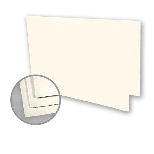 Folded Cards Arturo (Arturo Soft White Folded Cards - Arturo Medium Greeting Folded Landscape (4.53 x 13.39) 96 lb Cover Felt 100 per Box)