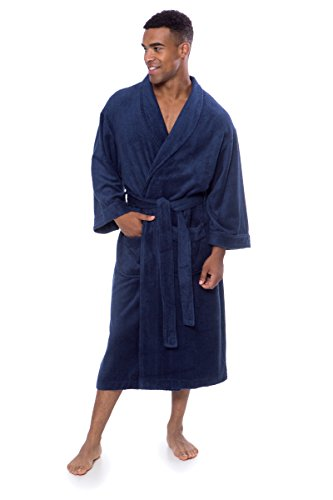 Men s Luxury Terry Cloth Bathrobe - Soft Spa Robe by Texere - Import ... 64687d9a0