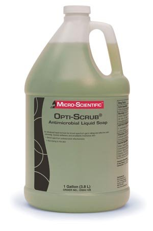 MICRO-SCIENTIFIC OPTI-SCRUB SKIN CLEANSER Opti-Scrub Liquid Antimicrobial Skin Cleanser, 1 Gallon, 4/cs